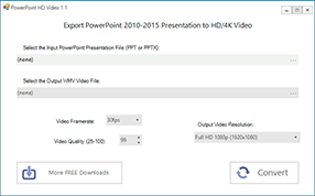 PowerPoint HD Video Convert/Export