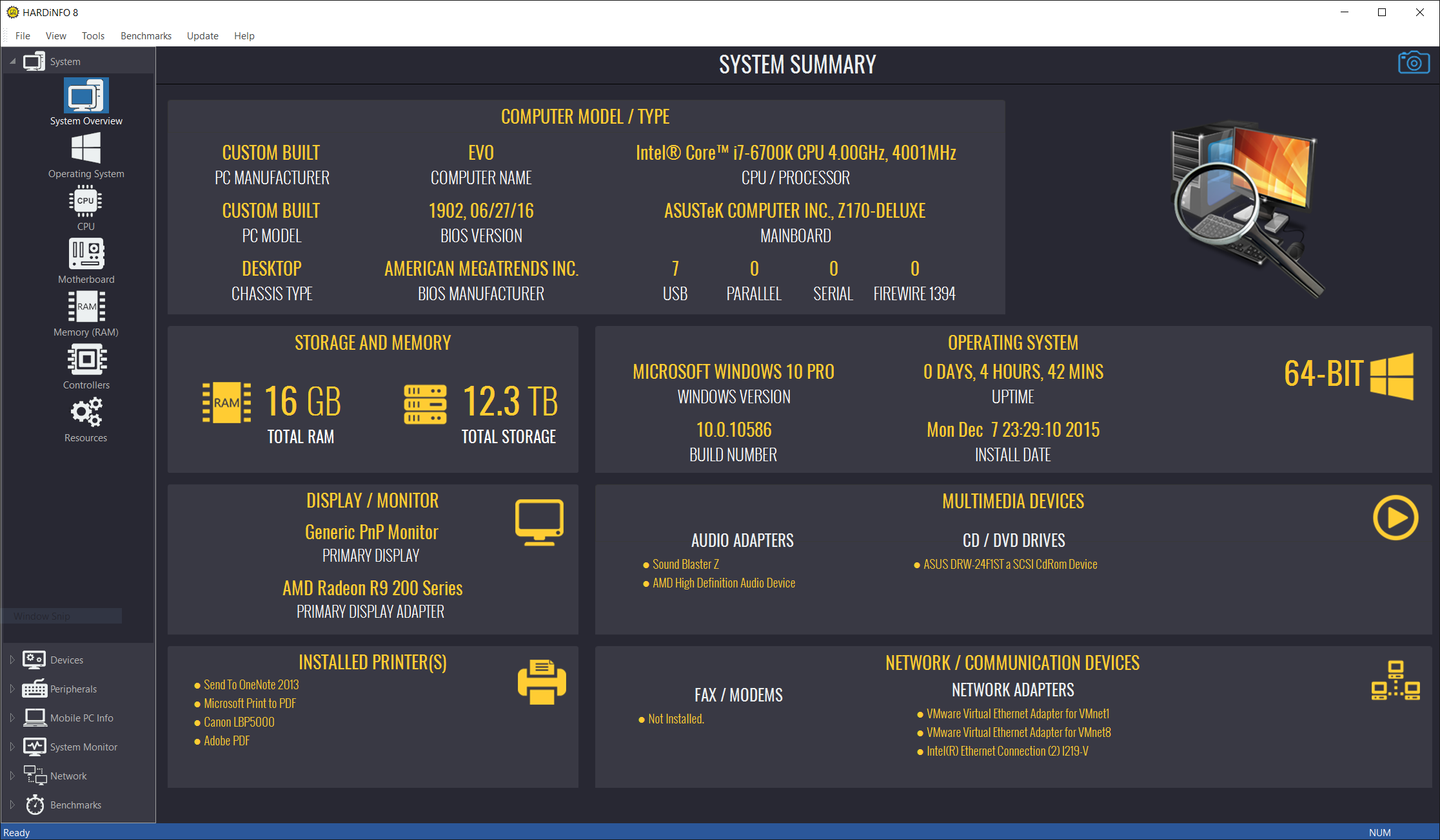 HARDiNFO - System Information and Benchmark   Ultimate Systems
